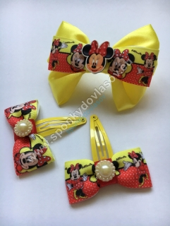 Set sponiek Minnie Mouse žltý